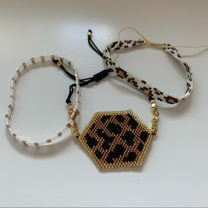 Leopard Adjustable Bracelet Set